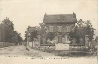"""CPA FRANCE 78 """" Achères, Avenue Maurice Berteaux""""."""
