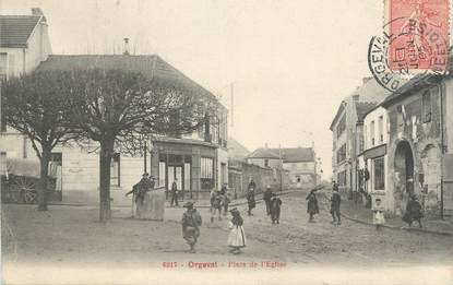 "CPA FRANCE 78 "" Orgeval, Place de l'église""."