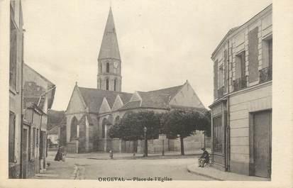 """CPA FRANCE 78 """" Orgeval, Place de l'église""""."""
