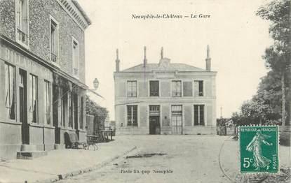 """CPA FRANCE 78 """" Neauphle le Château, La gare""""."""