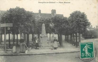 """CPA FRANCE 78 """" Neauphle le Château, Place Mancest""""."""