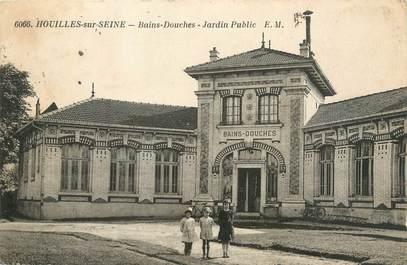"""CPA FRANCE 78 """" Houilles sur Seine, Bains douches, jardin public""""."""