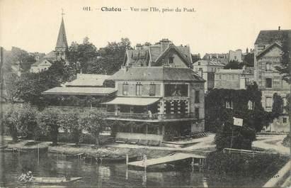 """CPA FRANCE 78 """" Chatou, Vue sur l'Ile prise du pont""""."""