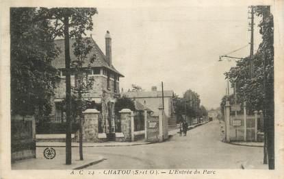 """CPA FRANCE 78 """" Chatou, L'entrée du parc""""."""