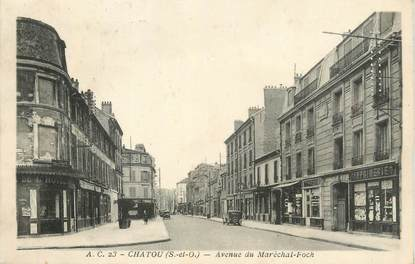 """CPA FRANCE 78 """" Chatou, Avenue du Maréchal Foch""""."""