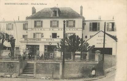 """CPA FRANCE 78 """" Montfort L'Amaury, Hôtel de Bellevue""""."""