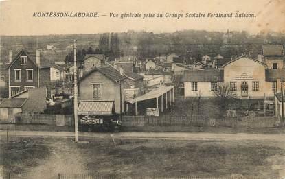 """CPA FRANCE 78 """" Montesson Laborde, Vue générale prise du groupe scolaire Ferdinand Buisson""""."""