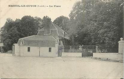 """CPA FRANCE 78 """" Mareil le Guyon, La place""""."""