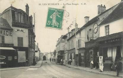 """CPA FRANCE 78 """"Les Mureaux, La place Rouget""""."""