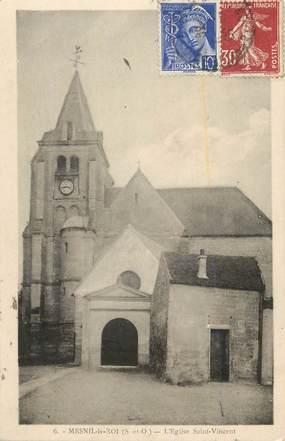 """CPA FRANCE 78 """"Mesnil le Roi, L'église St Vincent""""."""