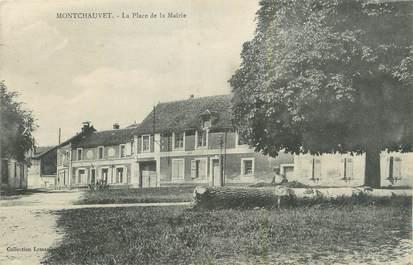 """CPA FRANCE 78 """"Montchauvet, La place de la Mairie""""."""