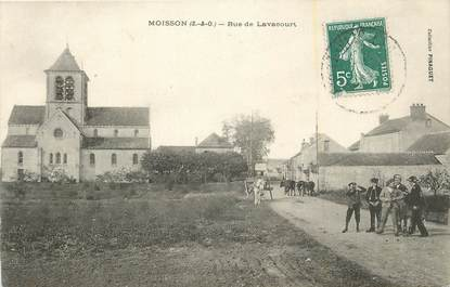 "CPA FRANCE 78 ""Moisson, Rue de Lavacourt""."