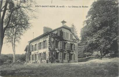 """CPA FRANCE 78 """"Levy St Nom, Le château des roches""""."""