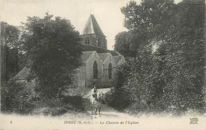 """CPA FRANCE 78 """"Issou, Le chemin de l'église""""."""
