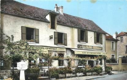 """CPSM FRANCE 78 """"Guernes, Café de la Mairie""""."""