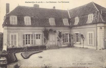 """CPA FRANCE 78 """"Herbeville, Le château, la terrasse""""."""
