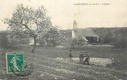 """CPA FRANCE 78 """"Gambaiseuil, L'église""""."""