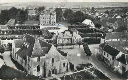 """CPSM FRANCE 78 """"Ecquevilly, L'église et le château""""."""