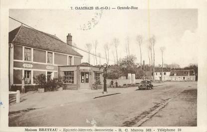 """CPA FRANCE 78 """"Gambais, Grande rue, Maison Breteau""""."""