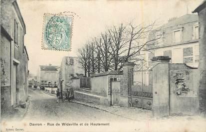 """CPA FRANCE 78 """" Davron, Rue de Wideville et de Hautement""""."""