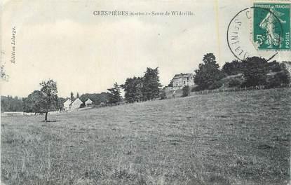 """CPA FRANCE 78 """" Crespières, Sente de Wideville""""."""
