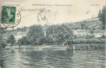 """CPA FRANCE 78 """"Dennemont, Vue prise sur la Seine""""."""