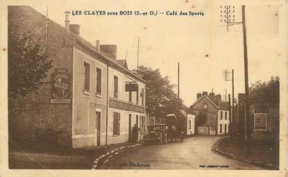 """CPA FRANCE 78 """"Les Clayes sous Bois, Café des sports""""."""