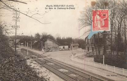 "CPA FRANCE 78 ""Bois d'Arcy, La gare de Fontenay le Fleury""."
