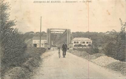"""CPA FRANCE 78 """"Bennecourt, Le pont""""."""