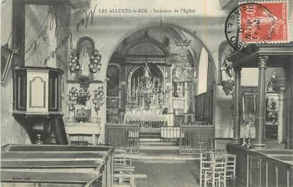 """CPA FRANCE 78 """"Les Alluets le Roi, Intérieur de l'église""""."""