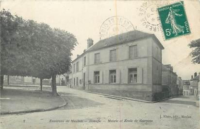 """CPA FRANCE 78 """"Bonafle, Mairie et école de garçons""""."""