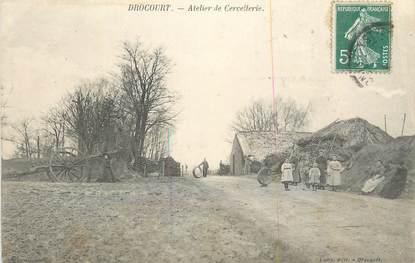 """CPA FRANCE 78 """"Drocourt, Atelier de Cercellerie""""."""