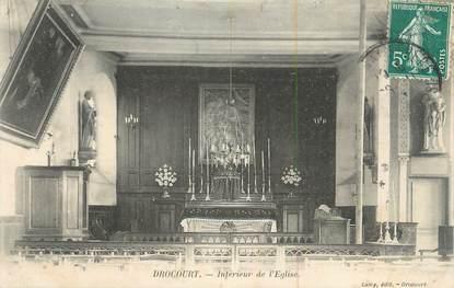 """CPA FRANCE 78 """"Drocourt, Intérieur de l'église""""."""