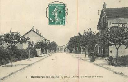 """CPA FRANCE 78 """"Bonnières sur Seine, Avenue de Rouen et de Vernon""""."""