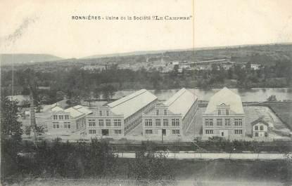 """CPA FRANCE 78 """"Bonnières, Usine de la Société Le Camphre""""."""