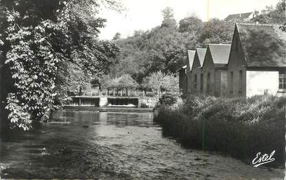 """CPSM FRANCE 27 """"Tillières sur Avre, Les bords de l'Avre au Moulin Neuf""""."""