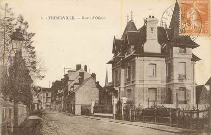 "CPA FRANCE 27 "" Thiberville, Route d'Orbec""."