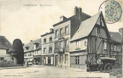 """CPA FRANCE 27 """" Thiberville, Rue de Lisieux""""."""