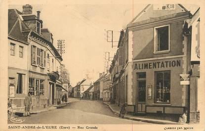 """CPA FRANCE 27 """" St André de l'Euré, Rue Grande""""."""