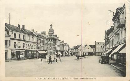 """CPA FRANCE 27 """" St André de l'Euré, Place Aristide Briand""""."""