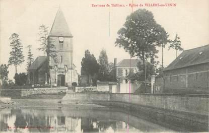 """CPA FRANCE 27 """" Villers en Vexin, L'église""""."""
