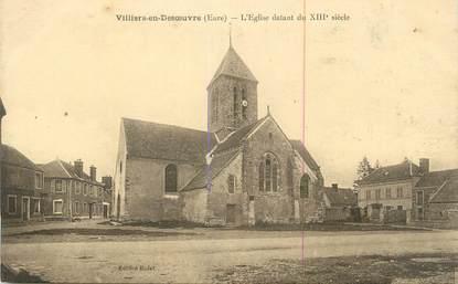 """CPA FRANCE 27 """" Villiers en Desoeuvre, L'église """"."""