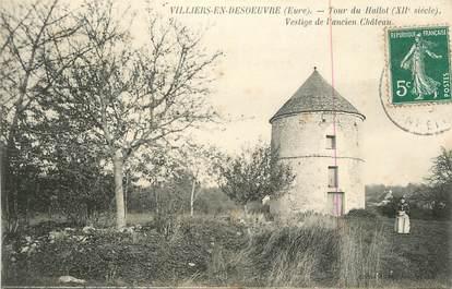 """CPA FRANCE 27 """" Villiers en Desoeuvre, La tour du Hallot vestige de l'ancien château'."""