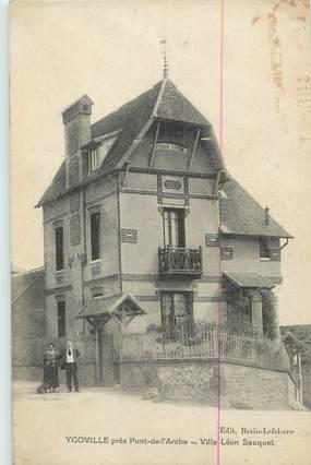 """CPA FRANCE 27 """" Ygoville, Villa Léon Sauquet""""."""