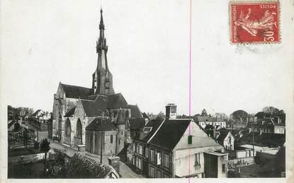 "CPSM FRANCE 27 "" Verneuil sur Avre, Panorama et Eglise Notre Dame""."