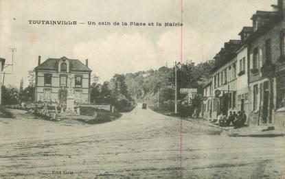 """CPA FRANCE 27 """" Toutainville, Un coin de la place et la Mairie""""."""