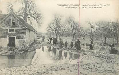 """CPA FRANCE 27 """" Tournedos sur Seine, Inondation de février 1910""""."""