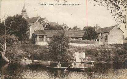 "CPA FRANCE 27 "" Tosny, Les bords de la Seine""."