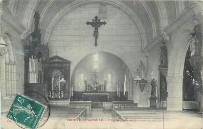 """CPA FRANCE 27 """" Trouville la Haule, L'église""""."""