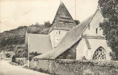 """CPA FRANCE 27 """" St Philibert sur Risle, Place de l'église et chapelle du prieuré""""."""